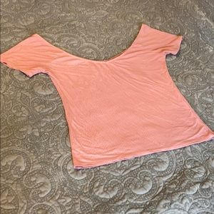Pink V-Neck T-Shirt